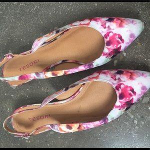 Tesori Cora Slingback Shoe Size 8
